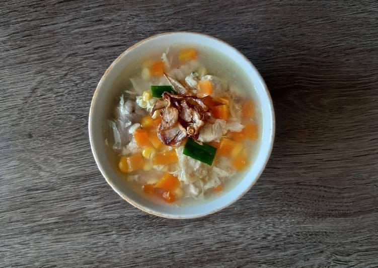 cara-membuat-sup-jagung-telur